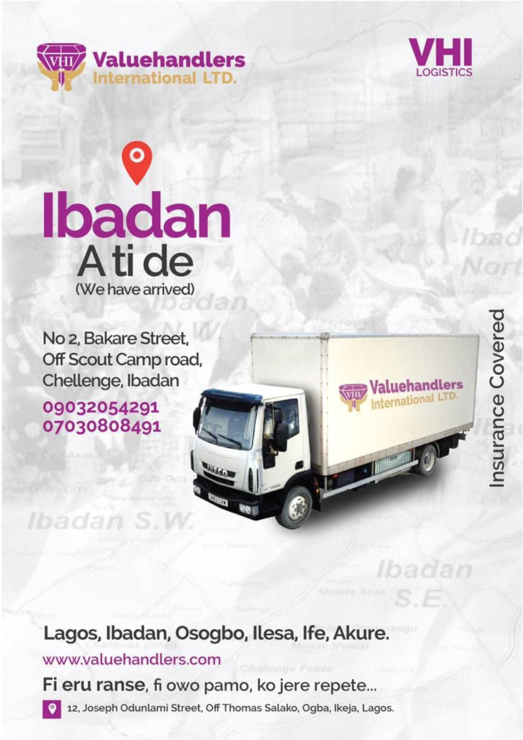 WELCOME TO VALUEHANDLERS IBADAN, NIGERIA